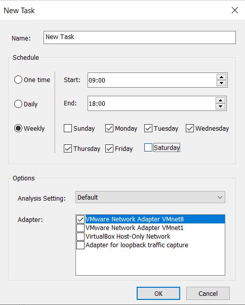 Network Analysis Auto-Run Feature
