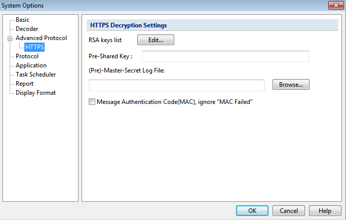 HTTPS Decryption Settings