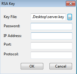RSA Key of network analysis
